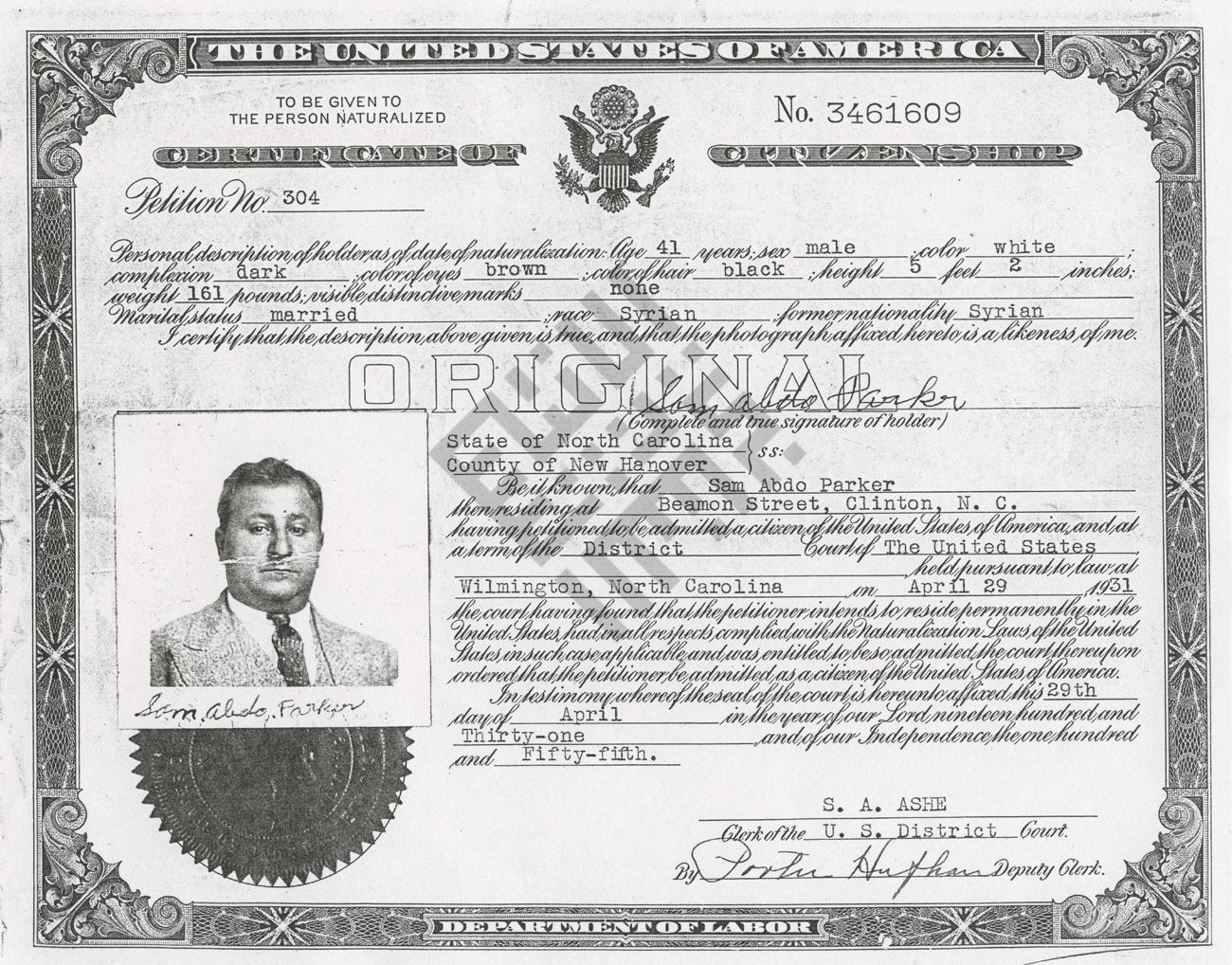 Findlen_1931_Parker-Citizenship_Certificate_wm.jpg