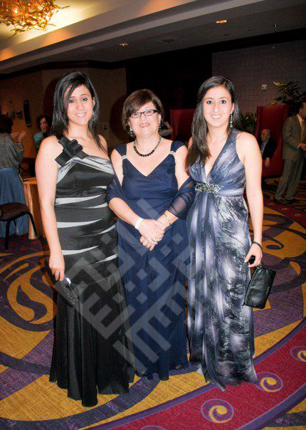 Nasrallah_2010_noha and daughters at event.jpg