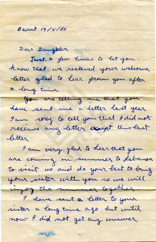 El-Khouri_Letter to Jennie Jabaley from Lebanon May19 1960_1_wm.jpg