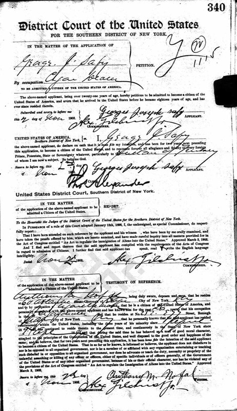 NY Naturalization papers - George J Safy - 1903 - p1_wm.jpg