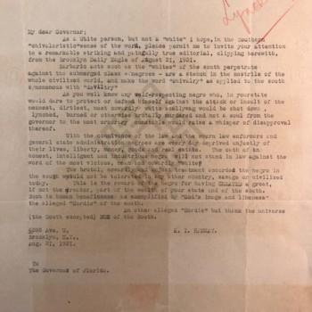 https://www.dropbox.com/s/fhtkbz3nyuz8ypl/1931.08.31_Letter to Gov re lynching in South 1931-no name-datewm.jpg