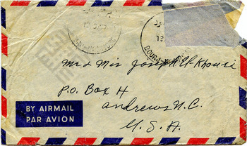 El-Khouri_Envelope to Joseph from Lebanon Sep13 1957_1_wm.jpg