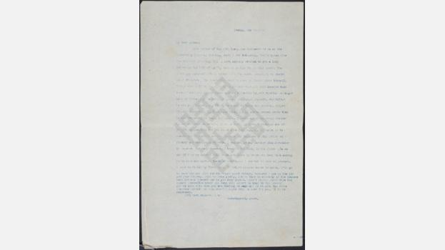 Letter from Ameen Rihani to Frank Holmes, 1924 May 20