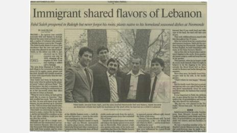 """Immigrant Shared Flavors of Lebanon"""